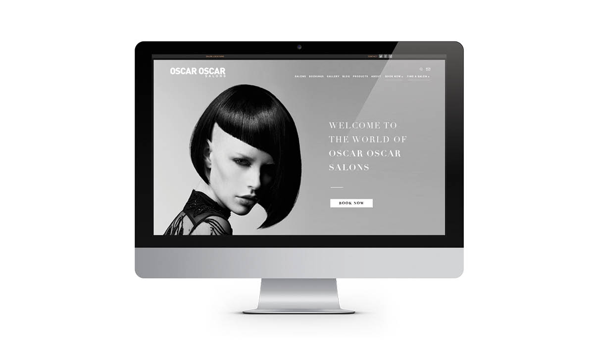 Oscar Oscar Salons Graphic Design & web development services - new website creative
