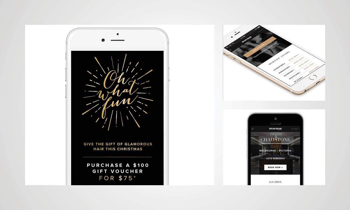 Oscar Oscar Salons Graphic Design - Creative Campaign development