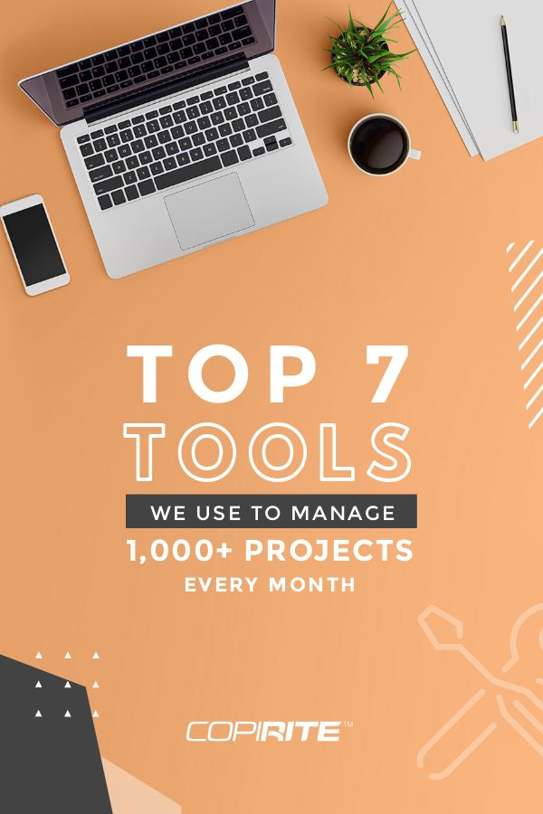 The 7 top tools we use to Manage 1000+ Projects - Pinterest Image